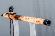 Spalted Maple Burl Native American Flute, Minor, Mid G - 4, #N13I (6)