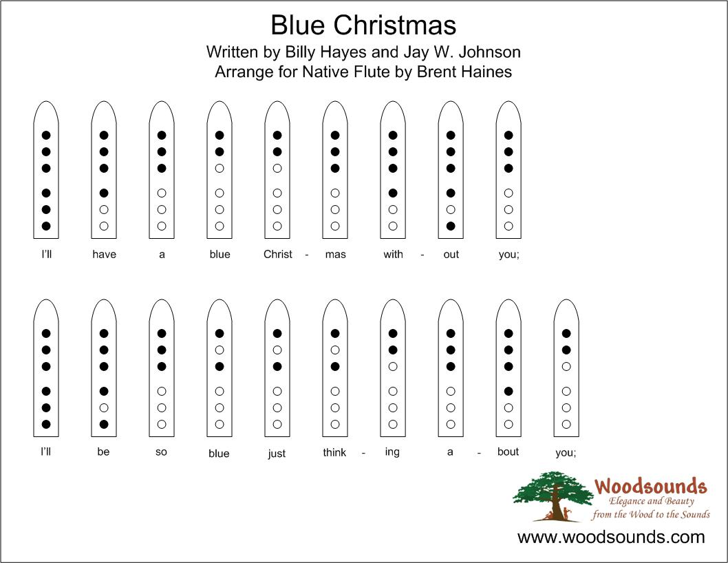 Blue Christmas For Native American Flute page 1