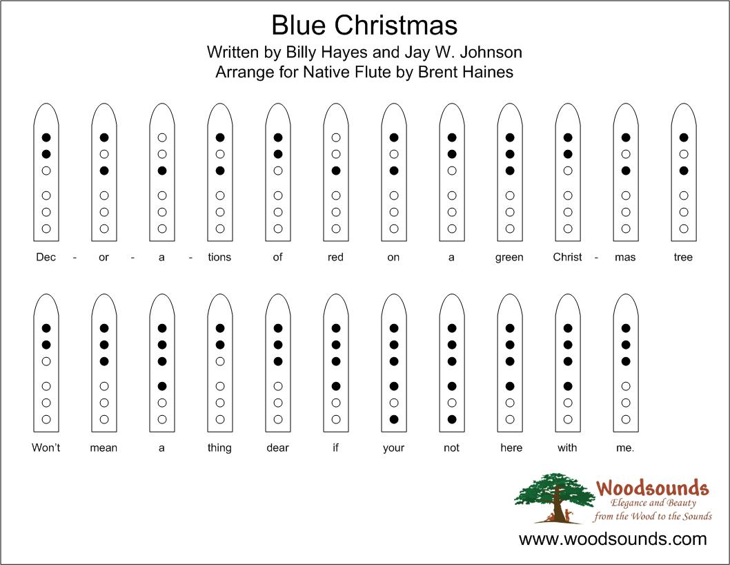 Blue Christmas For Native American Flute page 2